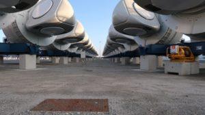 Têtes d'éoliennes marines à St Nazaire